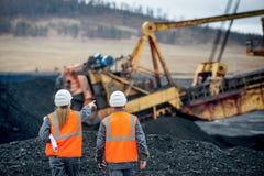 煤矿业的工作者 免版税图库摄影