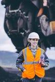 煤矿业的工作者 免版税库存照片