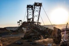煤矿业的挖掘机 免版税库存照片