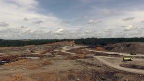 煤矿业的空中婆罗洲印度尼西亚 股票视频