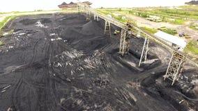 煤矿业的空中婆罗洲印度尼西亚 股票录像