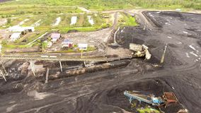 煤矿业的空中婆罗洲印度尼西亚 影视素材