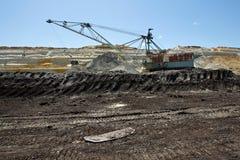 煤矿业的水池Kolubara在塞尔维亚 库存照片