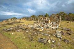 煤矿古迹在塔斯马尼亚岛 免版税库存照片