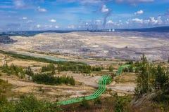 煤矿在波兰 免版税图库摄影