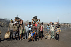 煤矿工人印度 库存图片