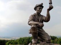 煤矿工人的雕象 库存照片
