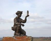 煤矿工人雕象 库存照片