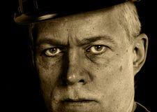 煤矿工人-工作者的面孔 免版税图库摄影