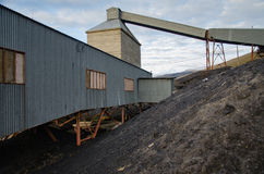 煤矿废墟在朗伊尔城 免版税库存照片