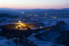 煤矿开采 图库摄影