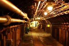 煤矿隧道,波肯德国 库存照片