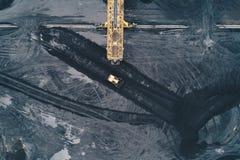 煤矿鸟瞰图在西里西亚 免版税库存照片