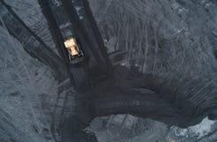 煤矿鸟瞰图在西里西亚 免版税库存图片