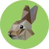 仿照多角形样式的兔子 时尚例证  免版税库存照片