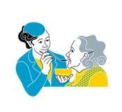 照料年长的人 咨询医疗诊断 护士 皇族释放例证