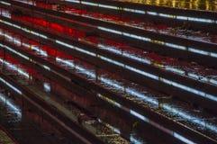 照明设备台阶在城市 免版税库存照片