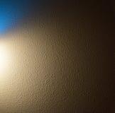 照明设备和纹理蓝色和金子 库存图片