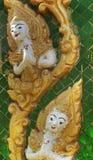 照明设备和Shador在寺庙Vientain老挝 免版税库存图片