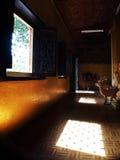 照明设备和Shador在寺庙Vientain老挝 免版税图库摄影