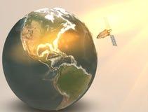 照明设备地球 库存照片