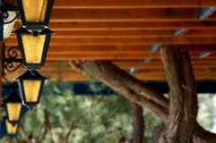 照明设备小酒馆 免版税库存图片