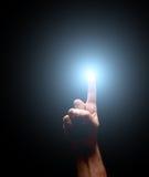 照明设备手指 免版税库存照片