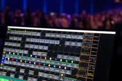照明设备控制屏幕 免版税库存图片
