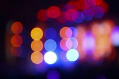 从照明设备火光的抽象模糊的背景在音乐会 免版税库存图片