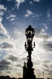 照明设备特点在巴黎 免版税库存照片