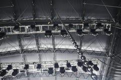 照明设备索具阶段 免版税库存照片