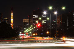 照明设备街道东京 免版税库存图片