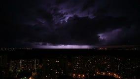 照明设备风暴和雷 股票录像