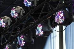 照明设备equipment.conference大厅泛光灯, 免版税库存照片