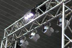 照明设备equipment.conference大厅泛光灯, 图库摄影