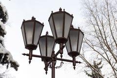 照明,冬天灯笼  免版税库存照片