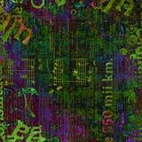 仿照混合画法样式的抽象美好的背景 免版税库存图片
