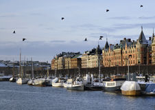 照片其中一个斯德哥尔摩沿海岸区  免版税图库摄影