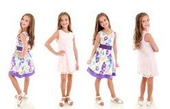 照片可爱的微笑的小女孩孩子的汇集princ的 免版税库存图片