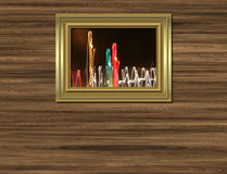 照片墙壁 皇族释放例证