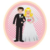 照片婚礼 向量例证