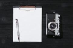 照片射击名单 图库摄影