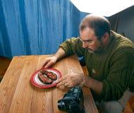 照片射击食物 免版税库存照片