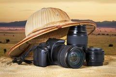 照片徒步旅行队 图库摄影