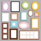 照片或图象墙壁和桌装饰框架模板传染媒介 免版税库存照片