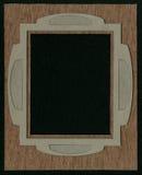 照片或文本的框架从有二面对切的裁减的纸板席子 免版税图库摄影