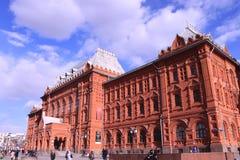 照片战争的博物馆1812在红场在春天,俄罗斯,莫斯科 库存照片