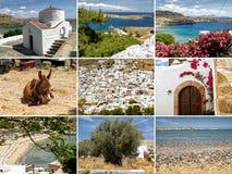 照片拼贴画从希腊目的地的 免版税库存图片