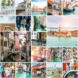照片拼贴画从威尼斯的 库存照片