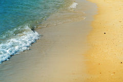 照片明亮的海波浪 库存照片